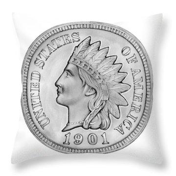 Indian Penny Throw Pillow