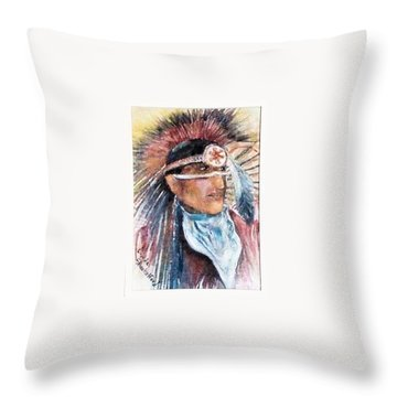 Indian Portrait Throw Pillow