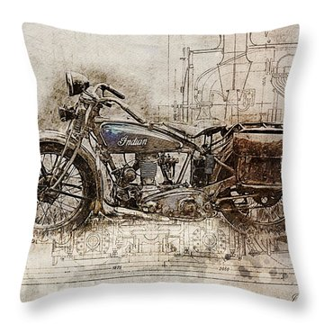 Indian Prince 1928 Throw Pillow