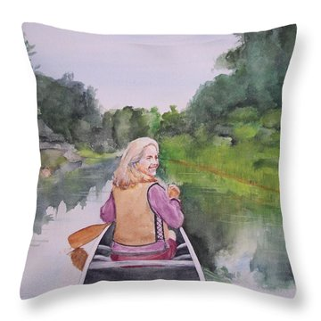 Indian River Throw Pillow by Ellen Canfield