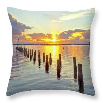 Indian River Sunrise Throw Pillow