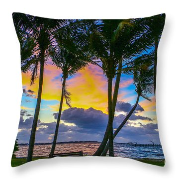 Throw Pillow featuring the photograph Indian River Sunrise by Tom Claud