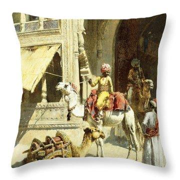 Indian Scene Throw Pillow