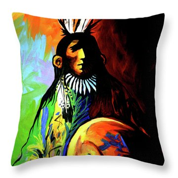 Indian Shadows Throw Pillow by Lance Headlee