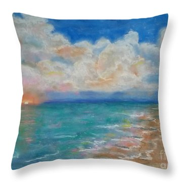 Indian Shores Throw Pillow by Vickie Scarlett-Fisher