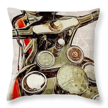 Indian Speedometer Throw Pillow