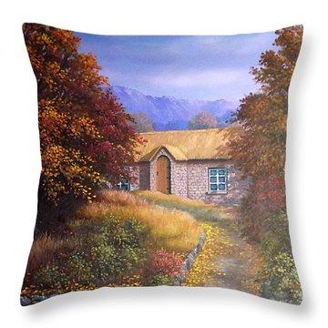 Indian Summer House Throw Pillow by Sean Conlon