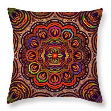 Indian Summer Throw Pillow by Robert Orinski