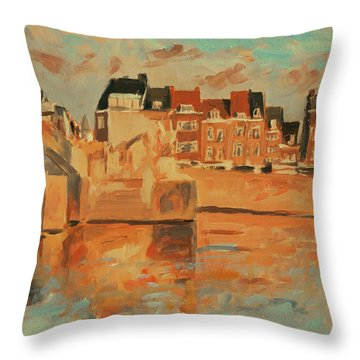 Indian Summer Sunday Sunset Throw Pillow