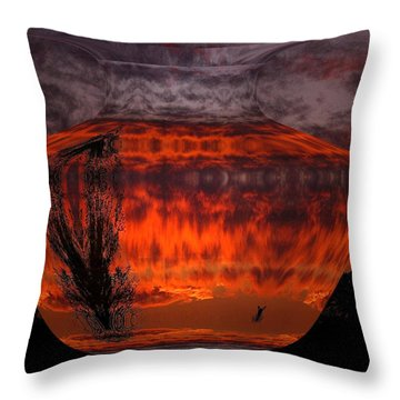 Throw Pillow featuring the photograph Indian Summer Sunrise by Joyce Dickens