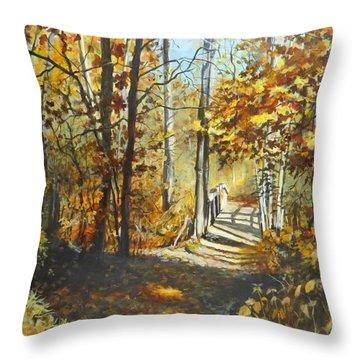 Indian Summer Trail Throw Pillow