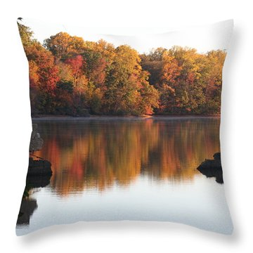 Throw Pillow featuring the photograph Indian Summer by Vadim Levin