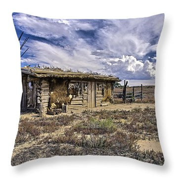 Indian Trading Post Montrose Colorado Throw Pillow by James Steele