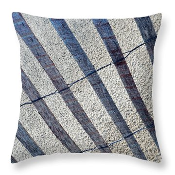 Indiana Dunes Beach Fence Throw Pillow