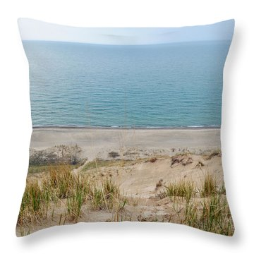 Indiana Dunes National Lakeshore Evening Throw Pillow