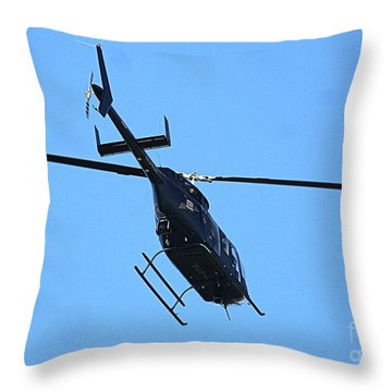 Indiana State Police Helicopter - Overhead Throw Pillow