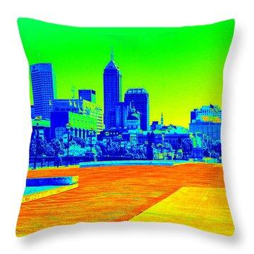 Indianapolis Heat Tone Throw Pillow