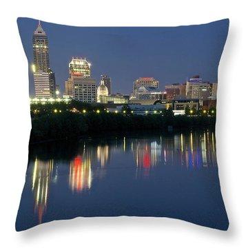 Indianapolis Night Throw Pillow