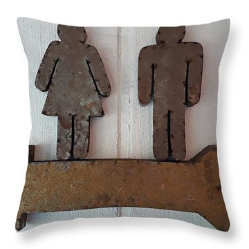 Throw Pillow featuring the digital art Indicazioni Per Il Bagno - Amalfi, Italy by Joseph Hendrix