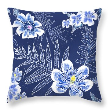 Indigo Batik - Laua'e 12 Throw Pillow