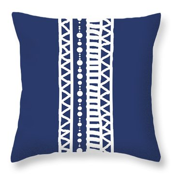 Indigo Batik Tribal Stripe Throw Pillow