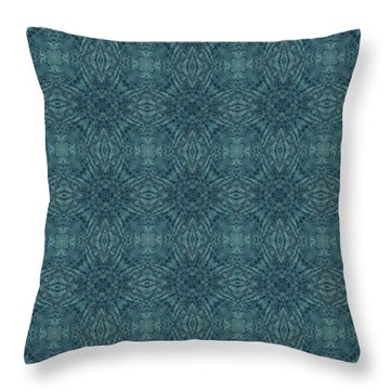 Indigo Diamond Cross Pattern 24in Throw Pillow