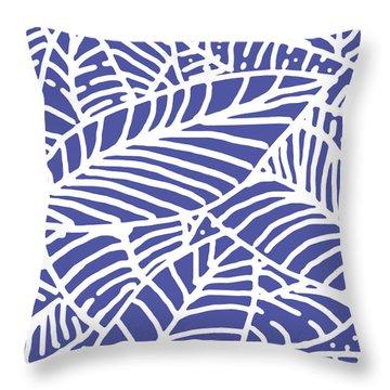 Indigo Leaves Batik Throw Pillow