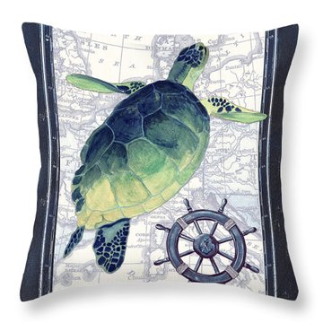 Indigo Maritime 1 Throw Pillow