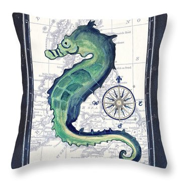 Indigo Maritime 2 Throw Pillow