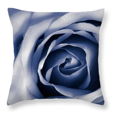 Indigo Rose Throw Pillow by Jim Hughes