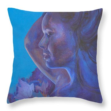 Indigo Serene Throw Pillow