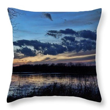 Throw Pillow featuring the photograph Indigo Skies by Cricket Hackmann