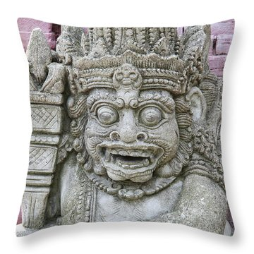Indonesian Statue #2 Throw Pillow