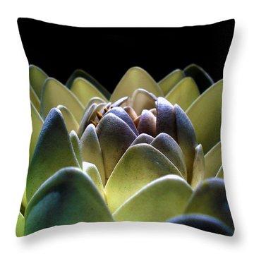 Indonesian White Lotus Throw Pillow