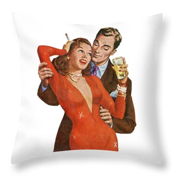 Throw Pillow featuring the digital art Indulge Me by Kim Kent