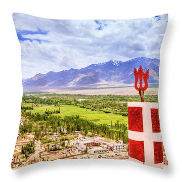 Throw Pillow featuring the photograph Indus Valley by Alexey Stiop