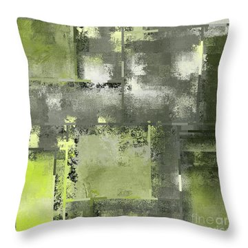 Industrial Abstract - 11t Throw Pillow