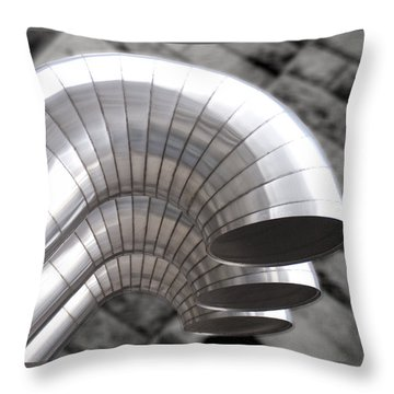Industrial Air Ducts Throw Pillow