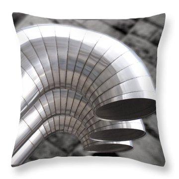 Industrial Air Ducts Throw Pillow by Henri Irizarri