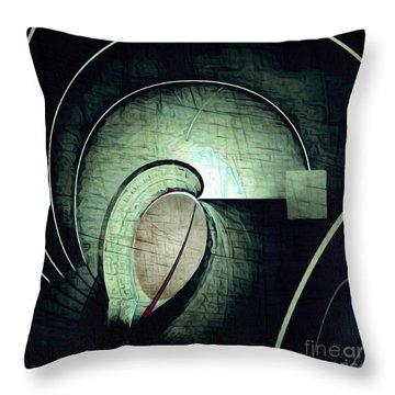 Industrial Arch Grey Throw Pillow