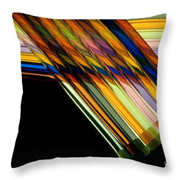 Industrial Art Throw Pillow by Jerry McElroy