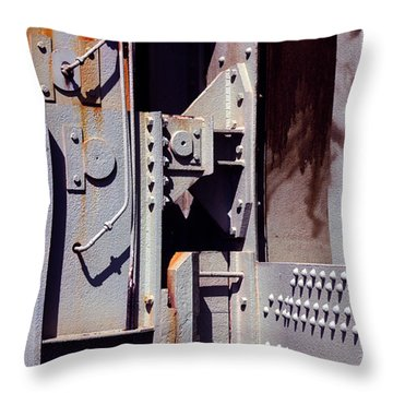 Industrial Background Throw Pillow