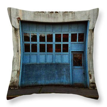 Industrial Blue Throw Pillow