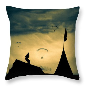 Industrial Carnival Throw Pillow by Bob Orsillo