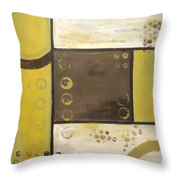Industrial Circles No.2 Throw Pillow