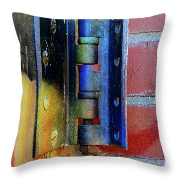 Throw Pillow featuring the photograph Industrial by Corinne Rhode