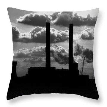 Industrial Night Throw Pillow