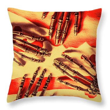 Industrial Death Machines Throw Pillow