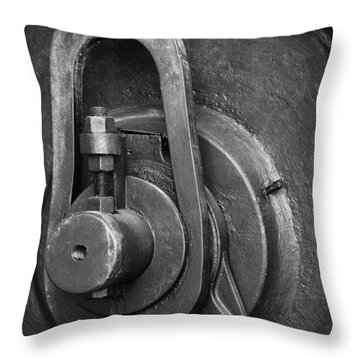 Industrial Detail Throw Pillow by Carlos Caetano
