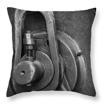 Industrial Detail Throw Pillow by Carlos Caetano